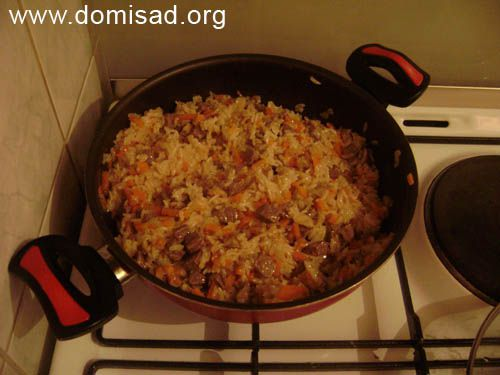 Плов в кастрюле из пропаренного риса — pic 10