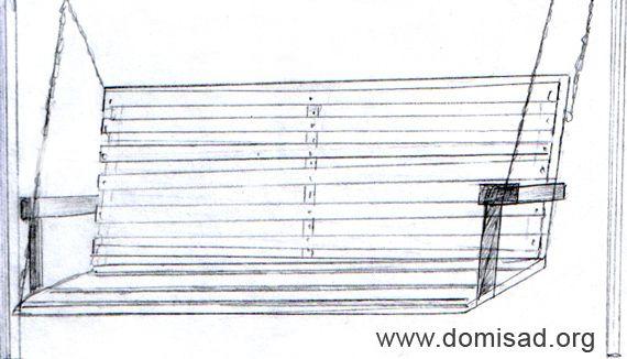 Фото деревянных качелей своими руками