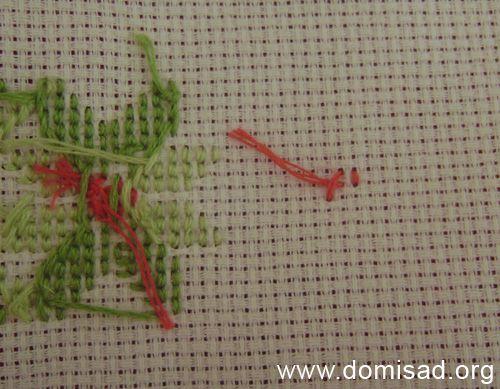 Обычная вышивка нитками