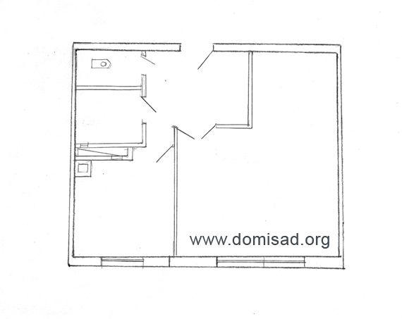 План квартиры для обмерочного чертежа