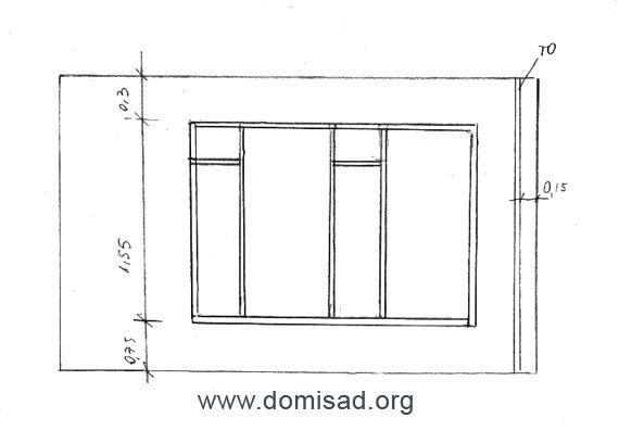 Стена с окном
