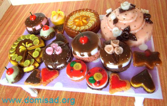 Тортики из пластики фото