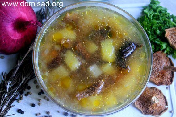рецепт суп грибной с фото