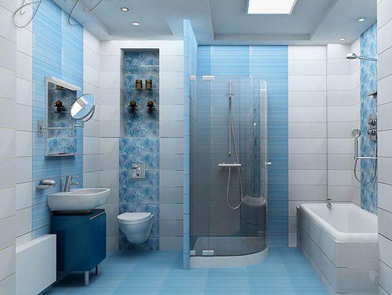 бело-синяя фото ванна