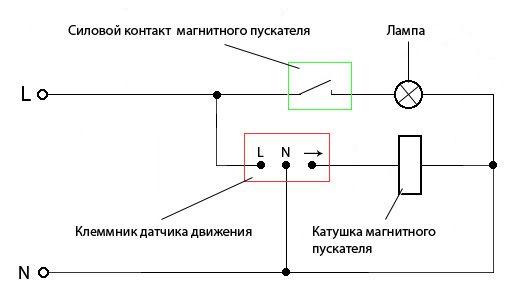 Настройка датчика движения