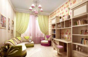 Красивый дизайн комнаты для девочек