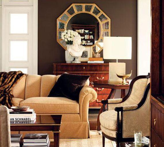 Бежево-коричневая гостиная