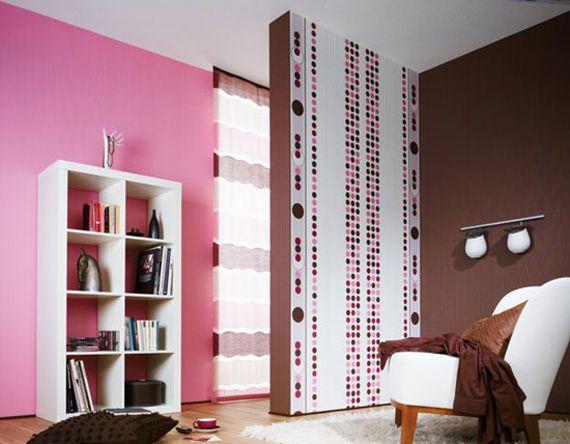 Розово-коричневая комната