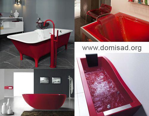 Красная сантехника - ванны