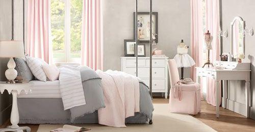 Серо розовая спальня