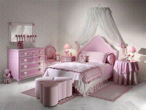 Розовая бемель для спальни