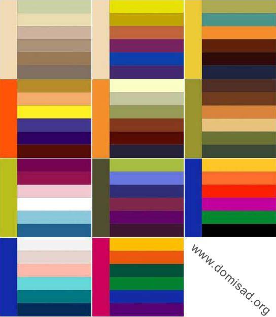 Стильные сочетания цветов в интерьере