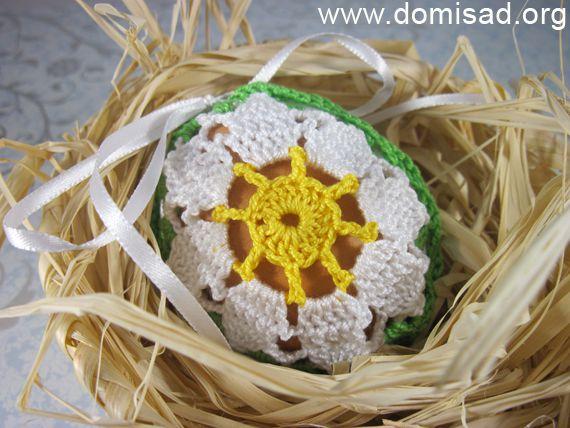 Вязаная сумочка для яйца