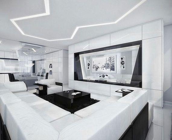 Дизайн комнаты белый