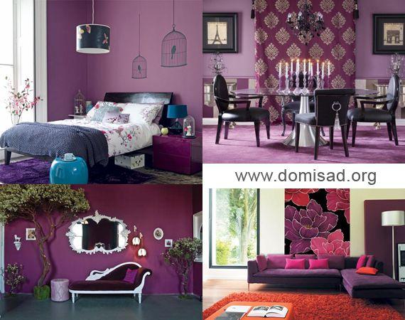 Сочетание цветов в интерьере фиолетовый