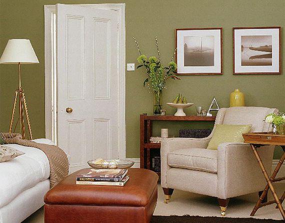 Оливковая гостиная комната