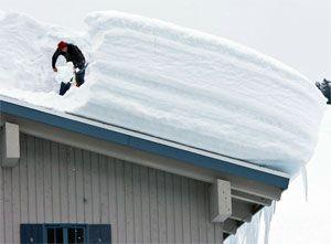 Устройство для чистки крыши от снега