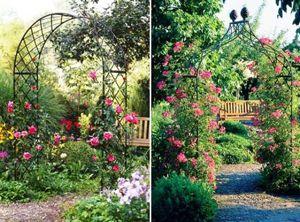 Арки для сада, увитые цветами