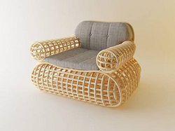Кресло из экологически чистых материалов