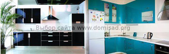 Глянцевая мебель для кухни