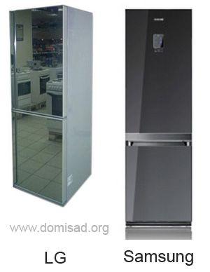 Зеркальные холодильники от LG и  Samsung
