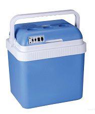 Синий автохолодильник с функциями
