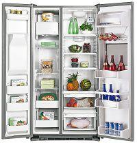 Большой двухдверный холодильник