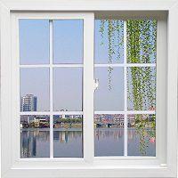 Пластиковое окно с видом на реку