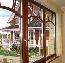 Современные окна из дерева