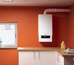 Газовый котел на кухне на стене