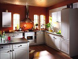 Кухня с настенным газовым котлом