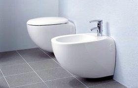 Биде и унитаз в ванной