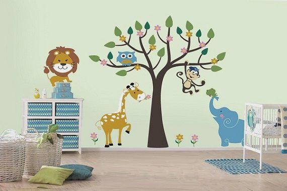 Детские наклейки на стену