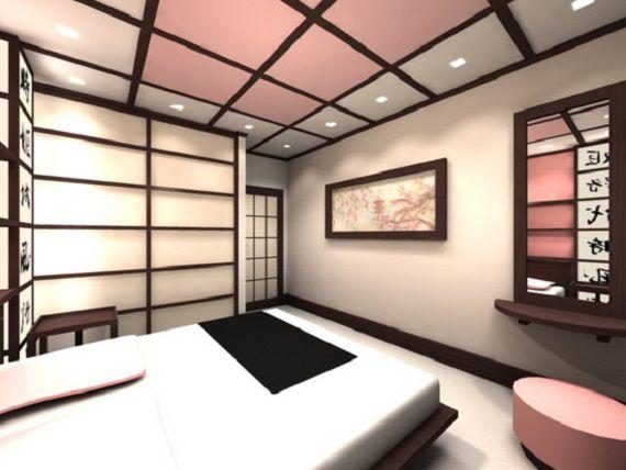 Спальня в розово-коричневых тонах