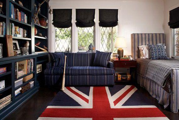 Ковер в виде британского флага