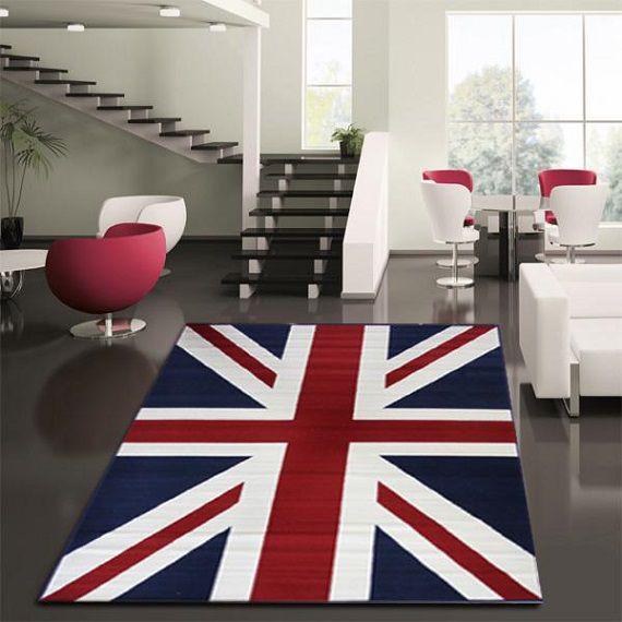 Ковер в виде английского флага