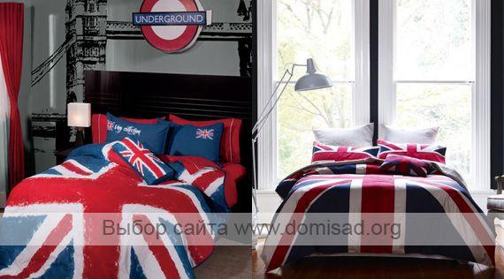 Постельное белье с английским флагом