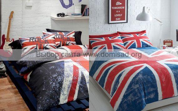 Светло-синее постельное белье и в музыкальном стиле