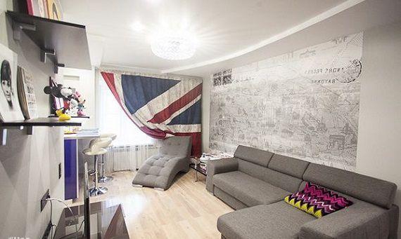 Шторы в виде британского флага