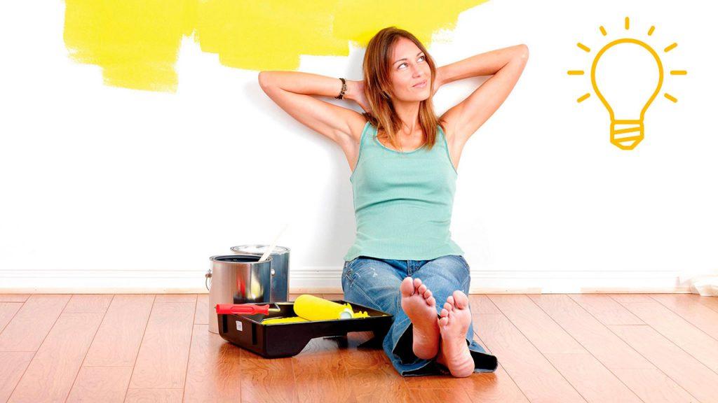 хитрый, лайфаки, покраска, потолок, стен, ремонт